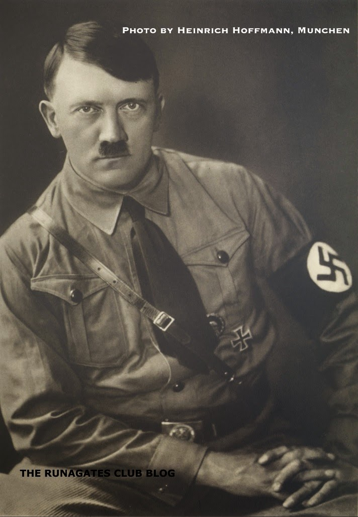 Hitler - a studio portrait taken by Heinrich Hoffmann, in Munich