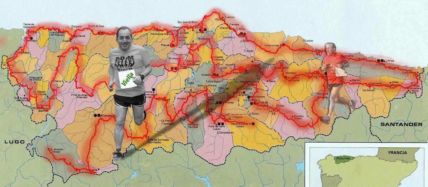 Corriendo por los 78 Concejos de Asturias
