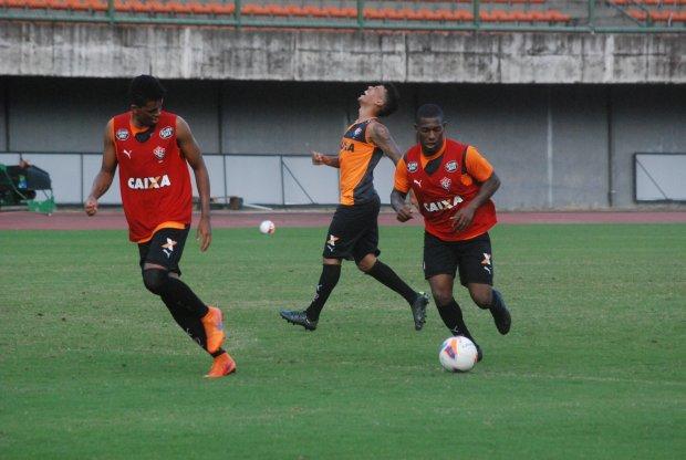 O Vitória teve apenas um treino para concluir a preparação antes do duelo com o Oeste (foto: Divulgação)