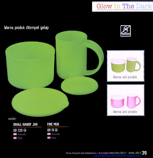 Info & Harga Twin Tulip Tulipware 2014 : Small Handy Jar | Fine Mug - GI, Glow In The Dark