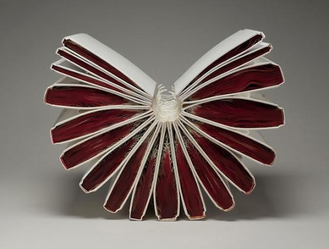 Book sculpture by Jacqueline Rush Lee