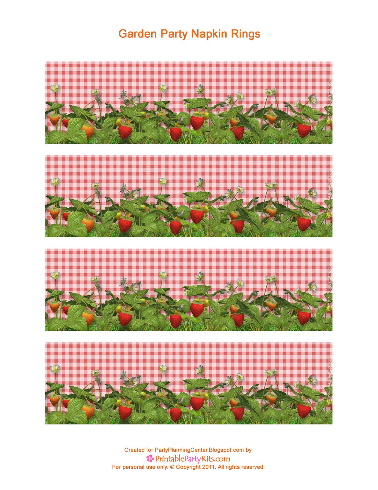 Party Planning Center Printable Garden Party Paper Napkin