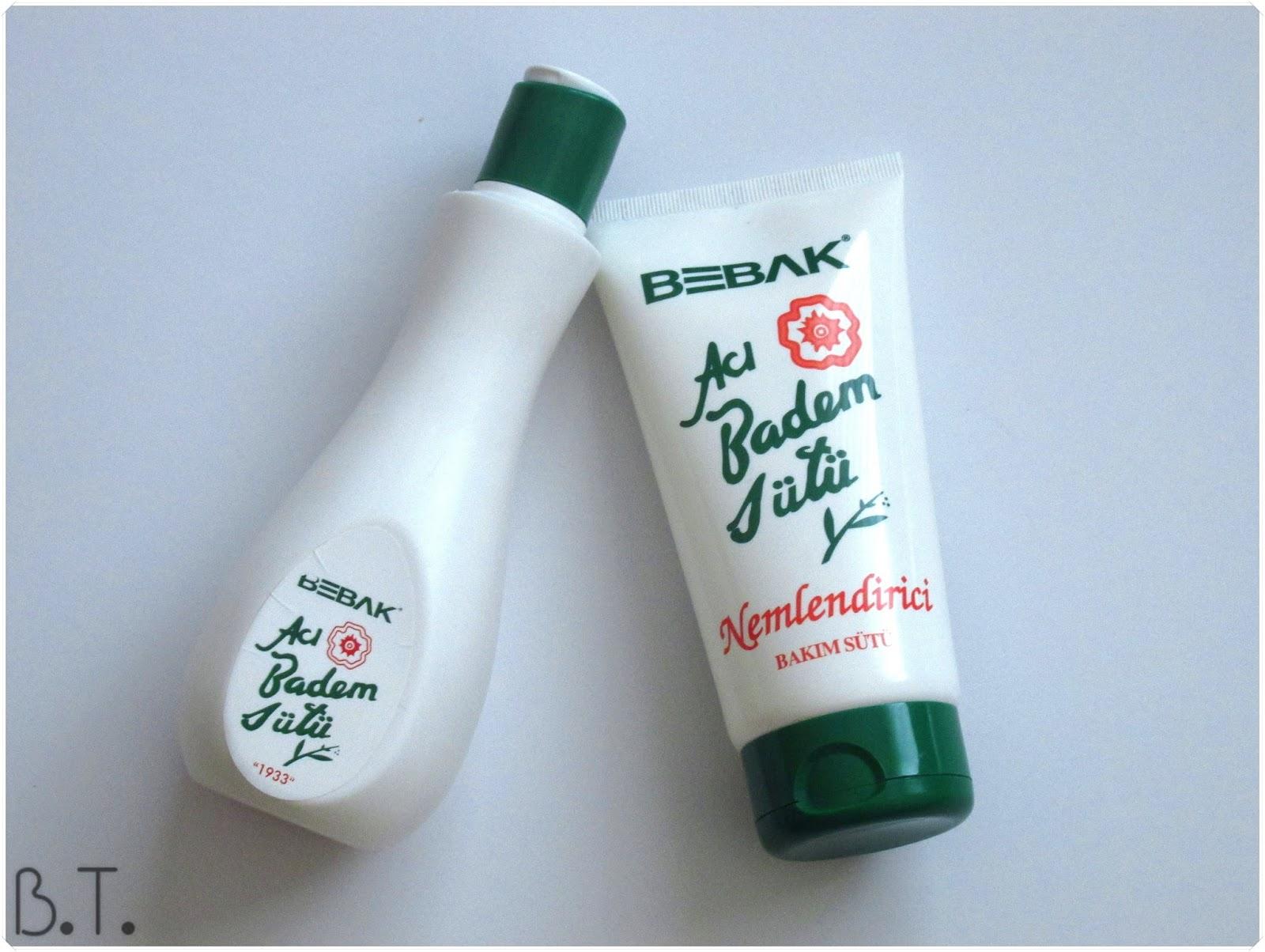 bebak acı badem temizleme sütü, nemlendirici