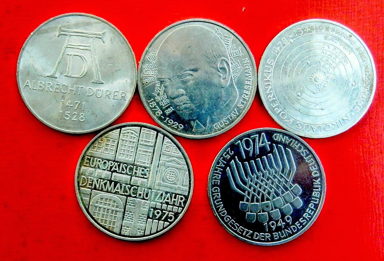 Постоянно на складе Монеты ОПТОМ низкие цены  бывает все ФРГ