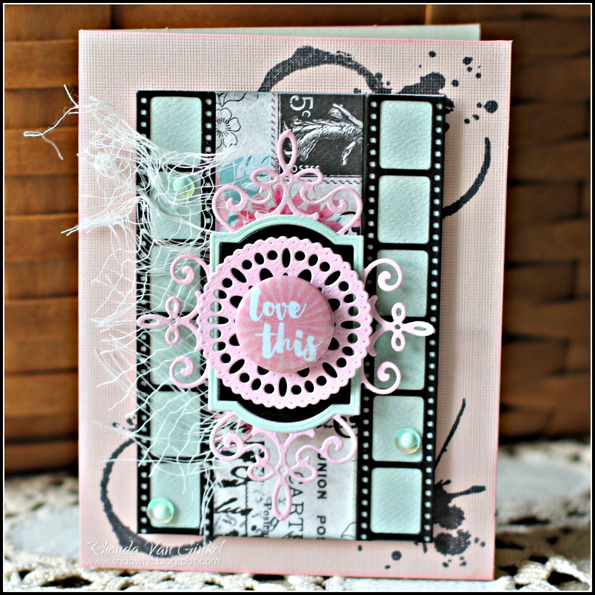 Love This card for C'est Magnifique Kit Club designed by guest designer Rhonda Van Ginkel