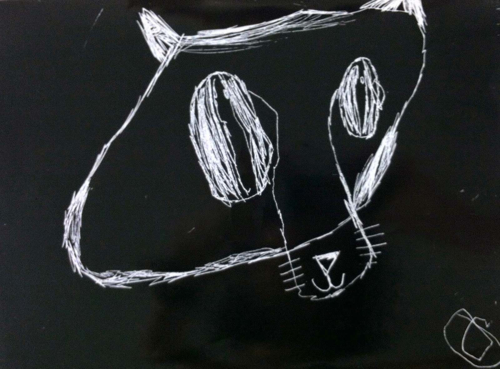 Kindergarten Fox Scratch Art I Love How These Foxes Turned Out Especially The Last One With Huge Eyes