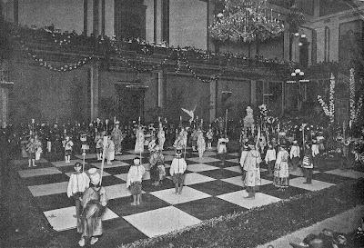 Partida de ajedrez viviente en 1904