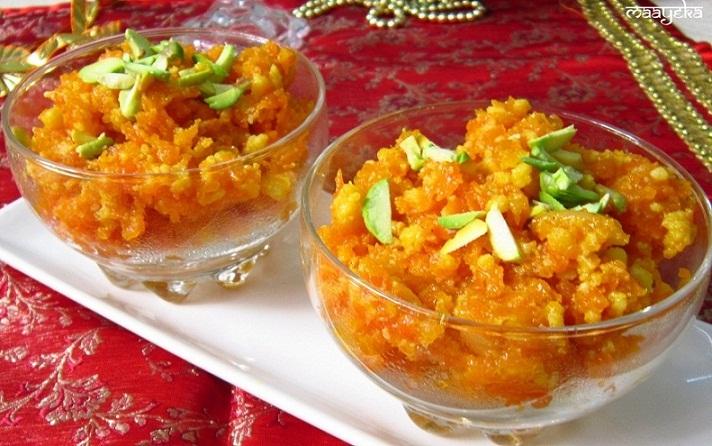 Gajar Ka Halwa /Carrot Pudding | Maayeka - Authentic Indian Vegetarian ...