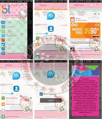 New Ubdate BBM Mod Tema Hello Kitty Versi 2.11.0.16 Apk