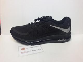 Sepatu Nike warna hitam polos, Sepatu Sekolah, sepatu gaya dan casual