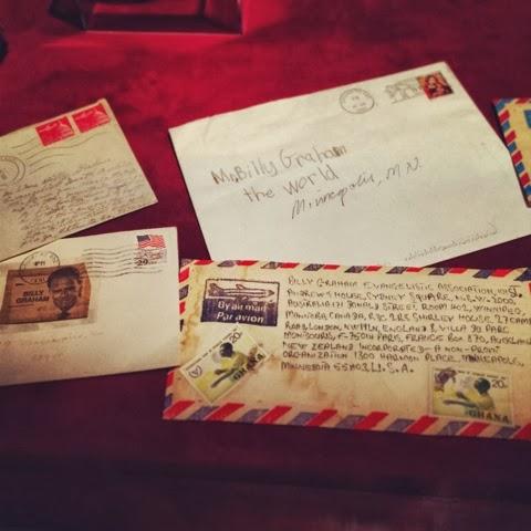 Billy Graham, television, retro, street, urban, flat brim, fashion, North Carolina, Charlotte, letters, postal service, mail, fan mail.