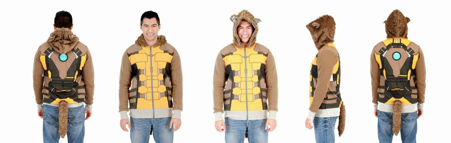 Marvel merchandise hoodies Rocket Raccoon costume