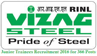Vizag Steel Plant junior Trainees