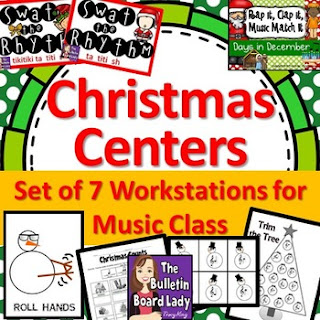 Christmas Workstations-Centers for Music Class