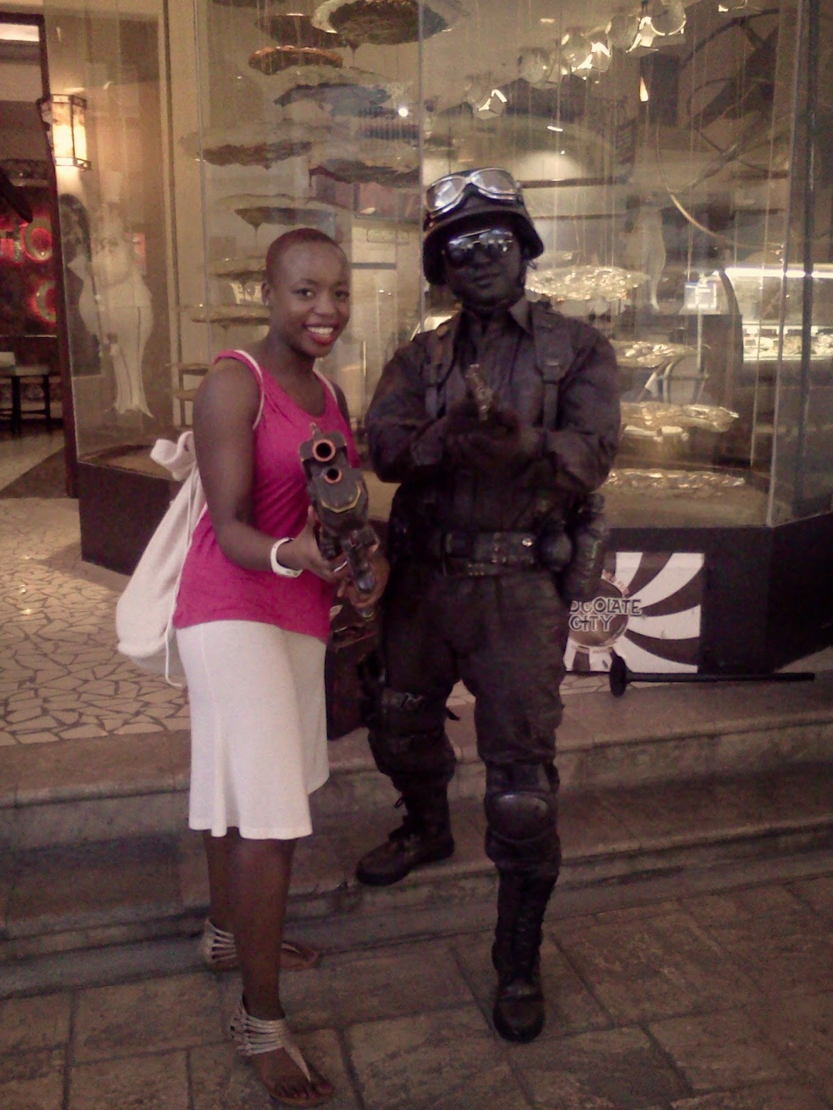 Dani with Chocolate City Solider