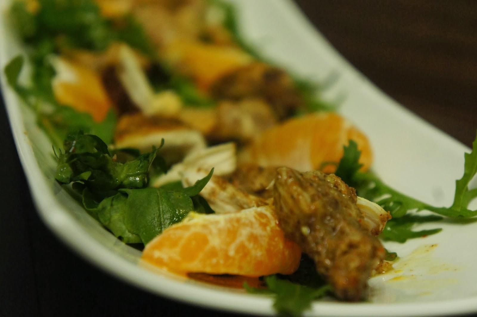 Let's talk food : Rocket and Orange salad with Grilled ...