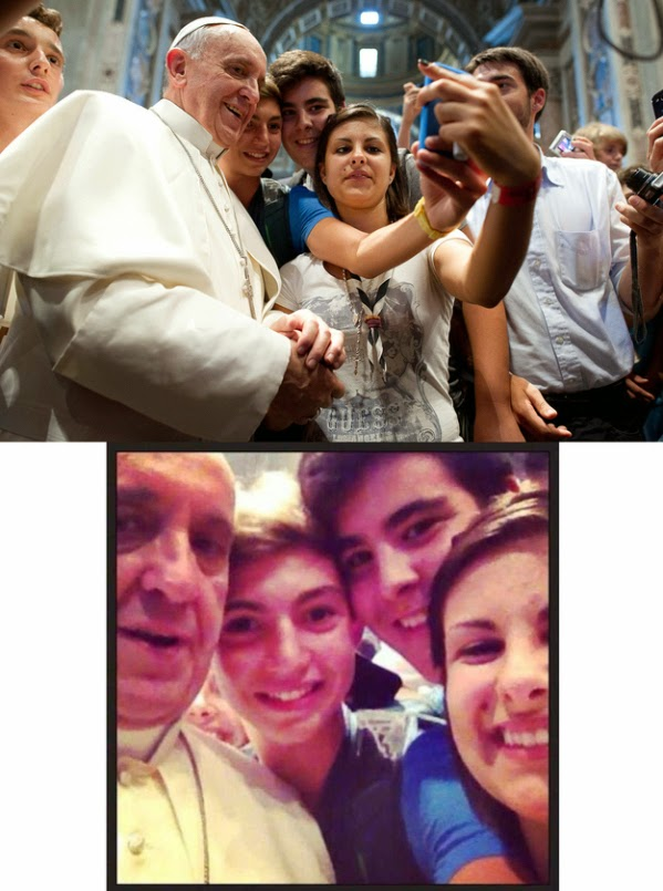 Pope Francis and the first 'Papal selfie'
