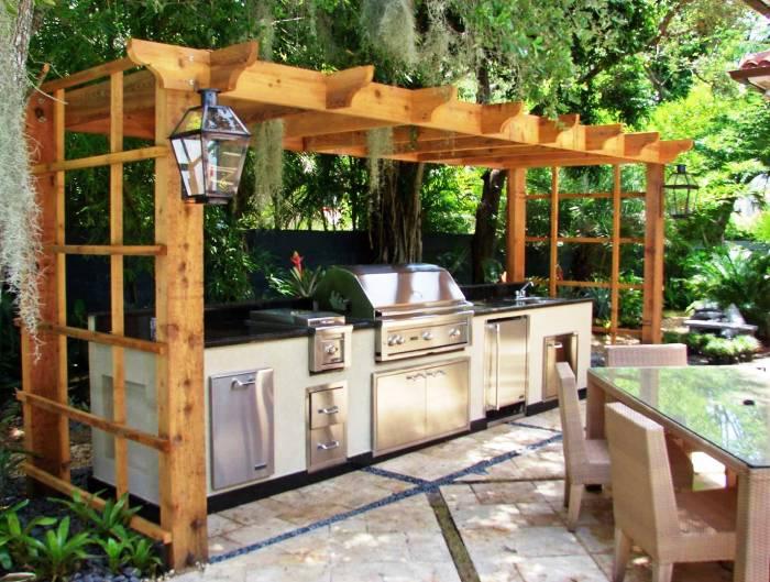 Desain Dapur Outdoor Natural
