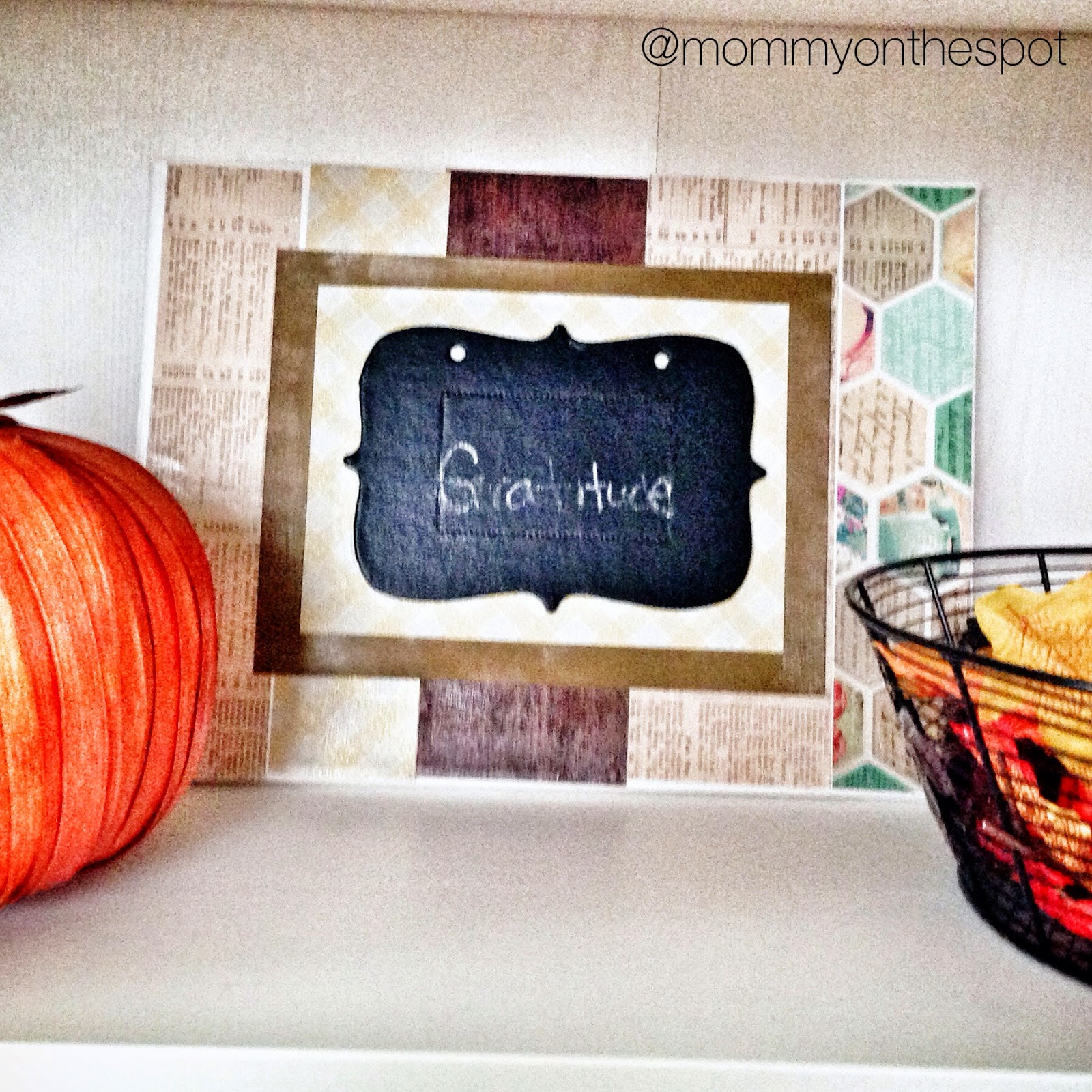 DIY Thanksgiving craft Thankful Thursday Erin Janda Rawlings Mommy on the Spot