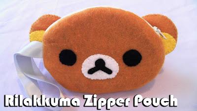 How to Make a Rilakkuma Zipper Felt Pouch DIY tutorial
