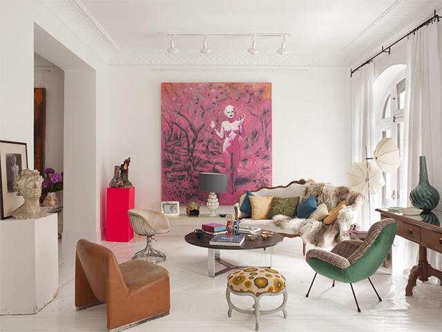 Muriel fabing artiste peintre un appartement eclectique for Appartement design nancy