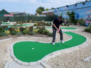 Miniature Golf at The Golden Palm Resort in Chapel St Leonards, near Skegness
