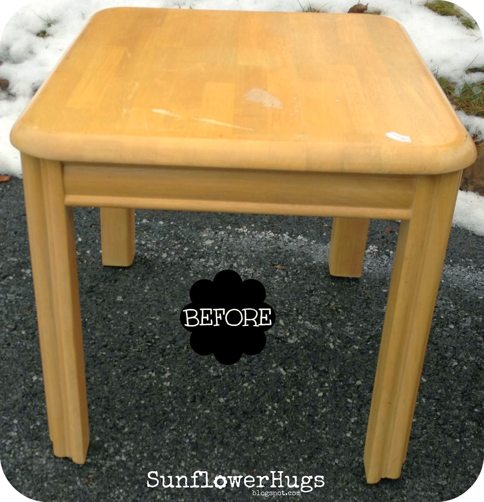 image tranfser table makeover
