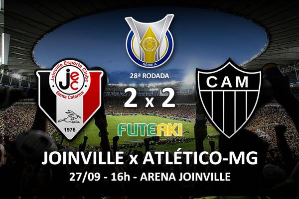 Veja o resumo da partida com os gols e os melhores momentos de Joinville 2x2 Atlético-MG pela 28ª rodada do Brasileirão 2015.