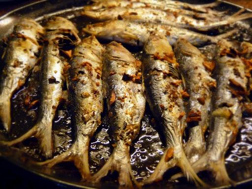 naughty cal baked sardines