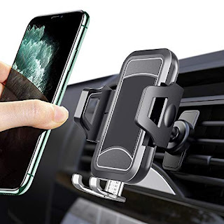 Google Pixel 3 XL 360 Degree Rotation Cell Phone Holder Compatible with iPhone Xs//XS Max // 8//7 // 6 AUKEY Car Phone Mount Air Vent Samsung Galaxy S9+ and Other Phones Black 2 Pack