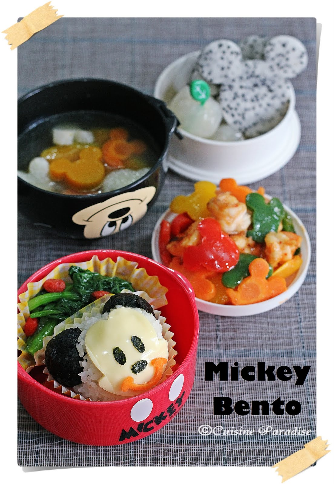 Mickey Bento Sets - From Breakfast to Dinner
