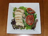 Grilled Chicken and Roasted Tomato Salad
