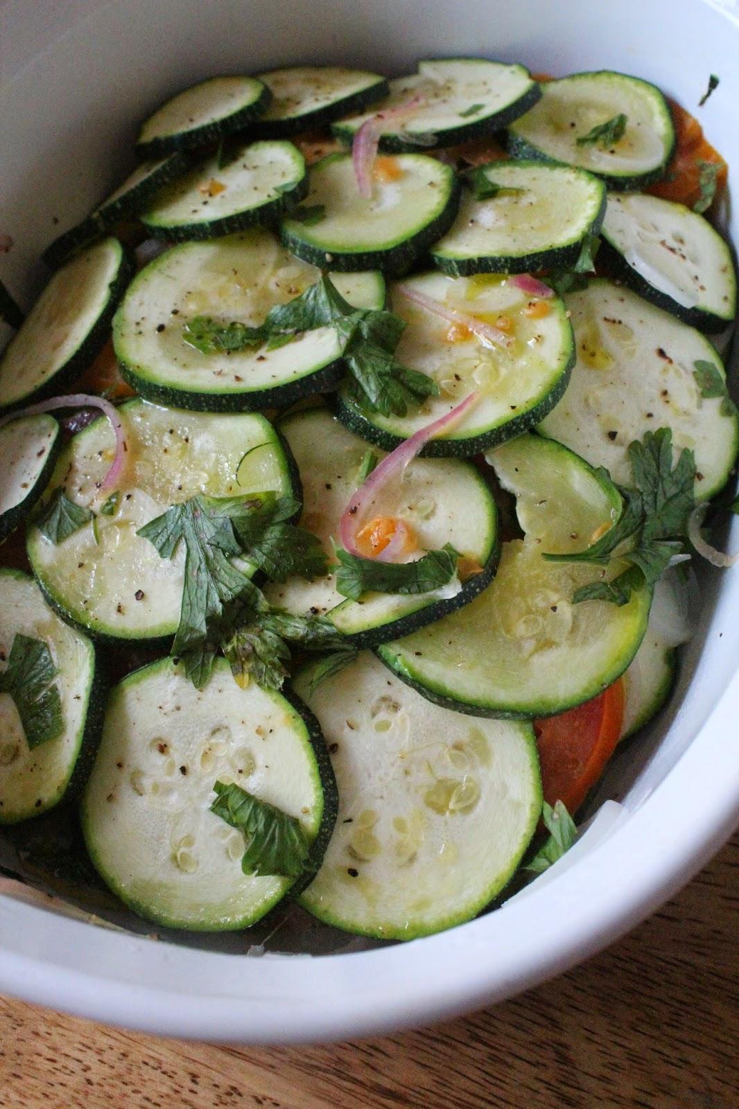 Microwaved Zucchini and Tomato Terrine // Runaway Apricot
