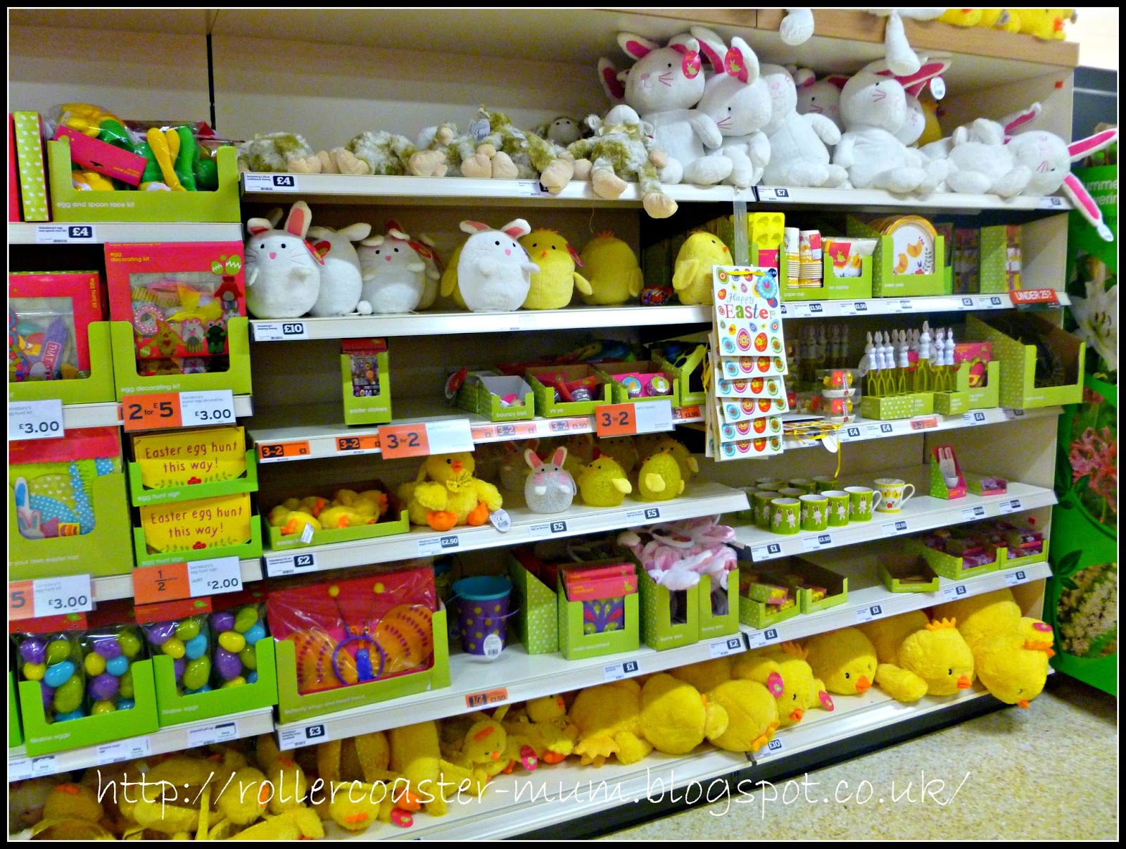 Sainsbury's Easter shop