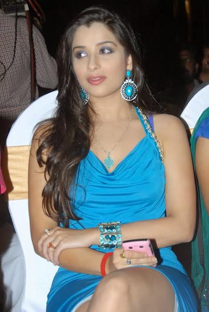 Madhurima In Blue Dress