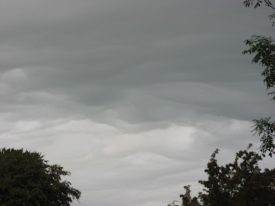 Ominous-looking clouds viewed from my farm in North Wales