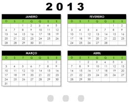 Calendário Excel