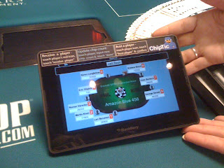 A Blackberry Playbook tablet being used for the new 'ChipTic' tracking system