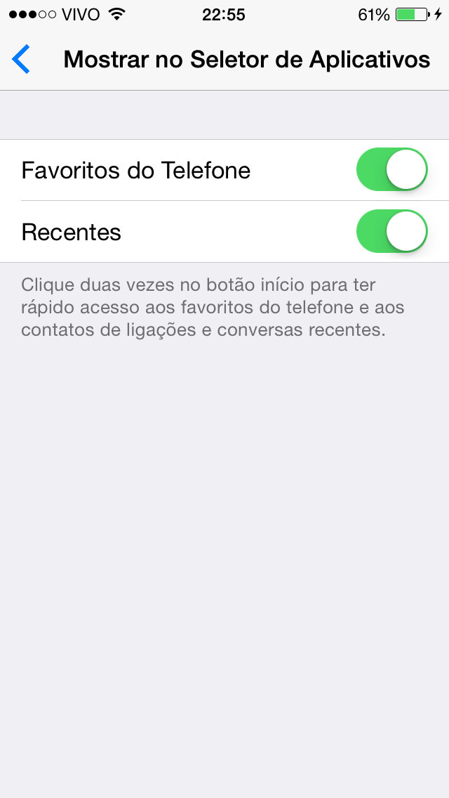 Seletor de Apps iOS 8
