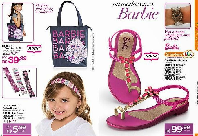 bolsa da barbie, sandalia da barbie, faixa da barbie, faixa de cabelo