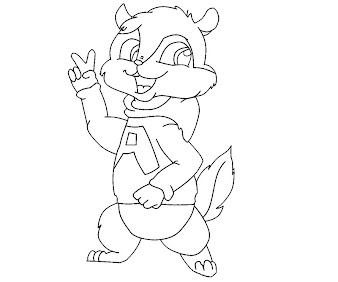 #15 Alvin and the Chipmunks Coloring Page