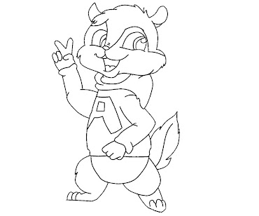 Alvin And The Chipmunks Coloring Pages