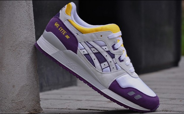asics gel lyte 3 yellow purple