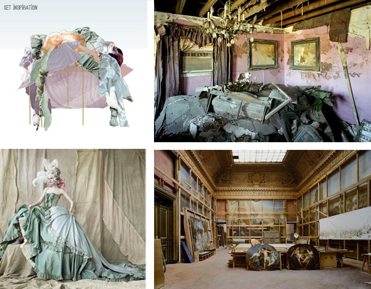 Samara Tompsett Set Design, Imogen Eveson, abandoned Versailles, Latitude 2012, The Painted House