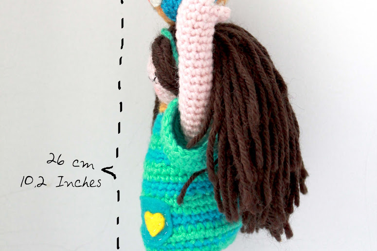 Amigurumi Owl Girl crochet pattern representing the connection between humanity and nature. By The Sun and the Turtle!