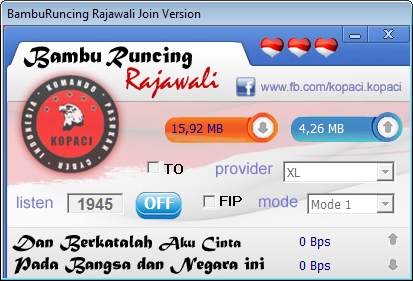 Bambu Runcing Rajawali Join Telkomsel and XL Only