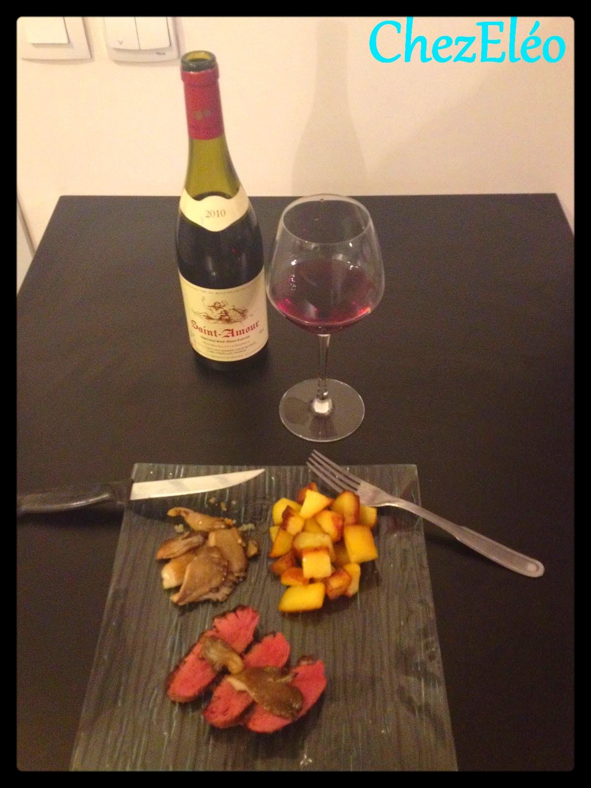 Chez el o magret de canard aux pleurotes et pommes de - Comment cuisiner un magret de canard a la poele ...