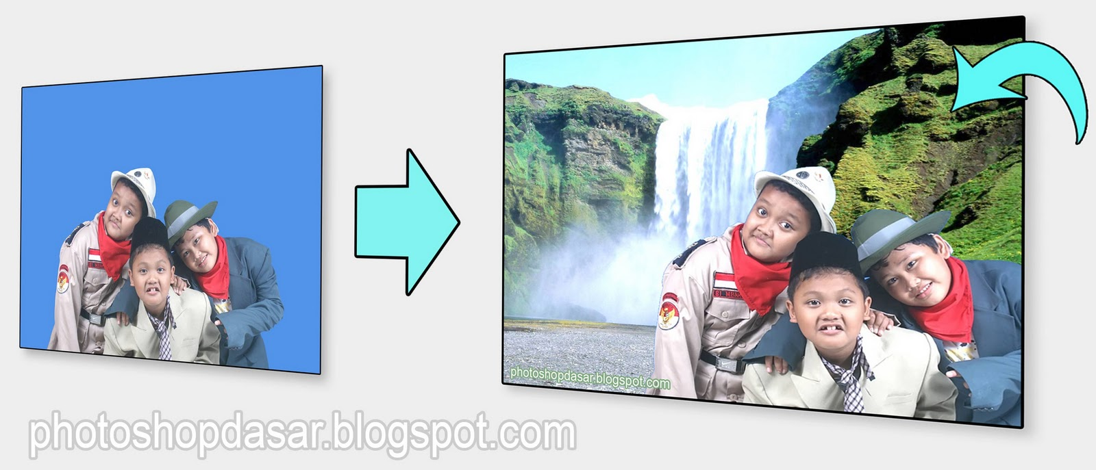 Cara mengganti Background foto dengan Adobe Photoshop cs2 dan cs3 ...