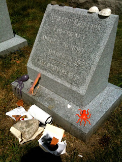 Gravestone of H. P. Lovecraft Swan Point Cemetery