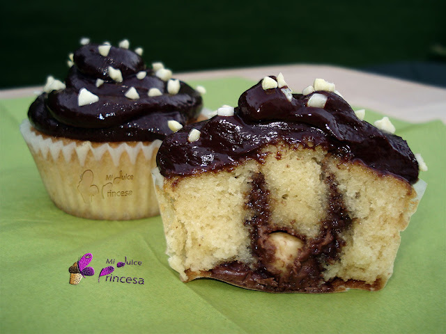 avellanas, chocolate, chocolate y avellanas, cupcakes, cupcakes ferrero roché
